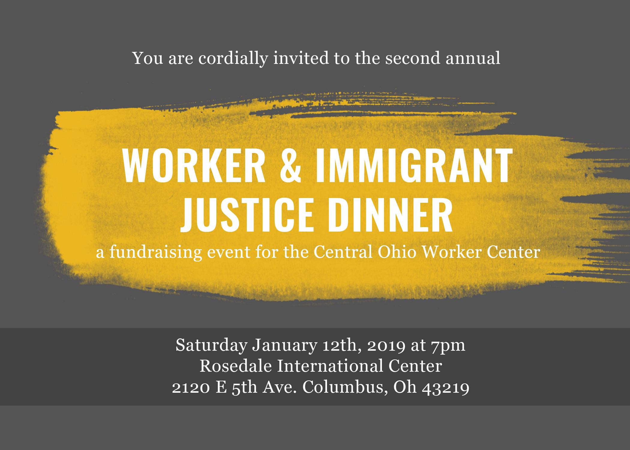Fundraiser Invite Central Ohio Worker Center